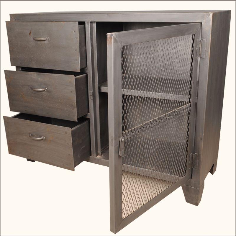 Utility Closet Door Idea Industrial Steel Sideboard Industrial
