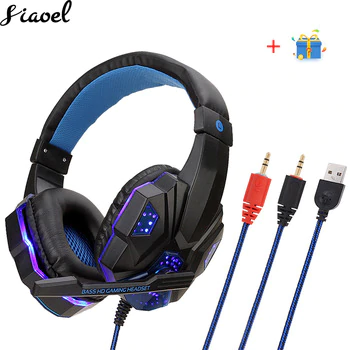Gaming Headset And 3 5mm Computer Headset Headphone With Microphone Led Light Stereo Earphone Game Headsets For Pc Dota 2 Audio By Design Gaming Headphones Headphones With Microphone Computer Headsets