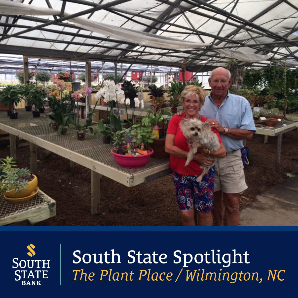 Owners, Bobbie and Billy Edwards agree that working at The Plant Place in Wilmington, NC is not a job… it's a lifestyle. Their employees have been part of the business for years and know customers by name, providing a warm welcome to all customers. 32 greenhouses of plants grown on the property and the advice from the knowledgeable staff are only the beginning. Customers can walk the aisles of all the greenhouses with wagons and select from the best plants in town.