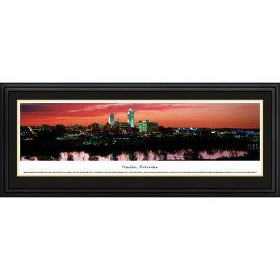 BlakewayPanoramas US Skyline Omaha, Nebraska by James Blakeway Framed Photographic Print