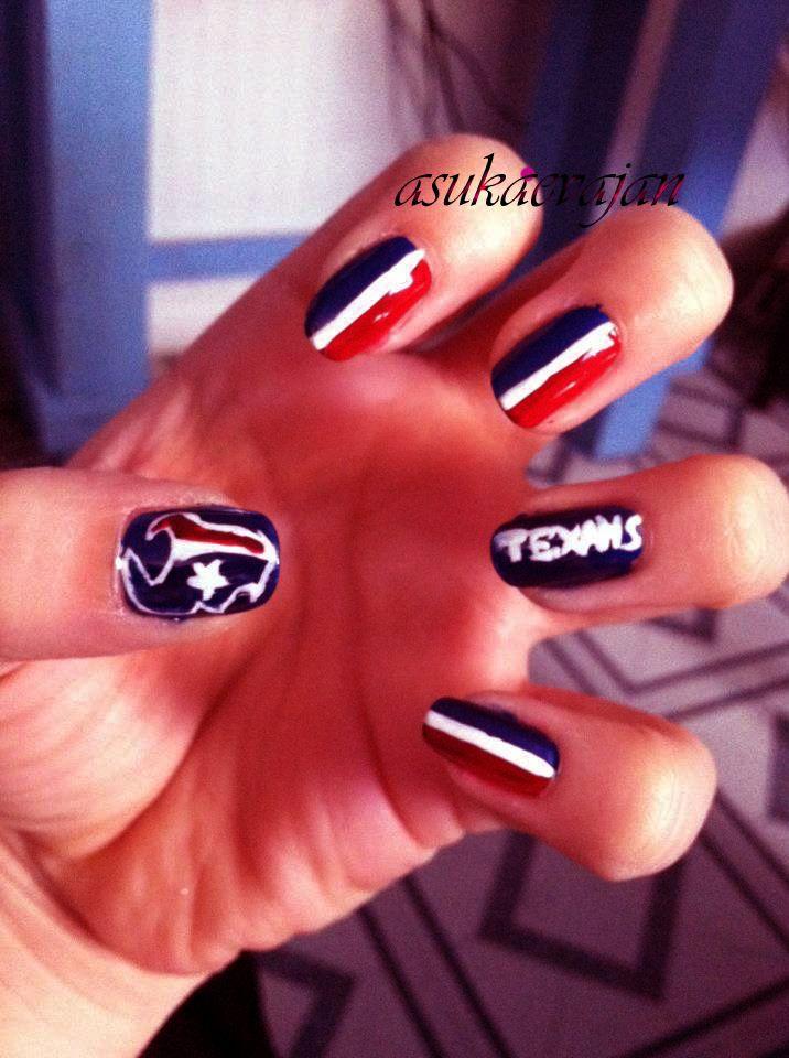 Texans Nail Art Nails Pinterest Texans Nails And Make Up