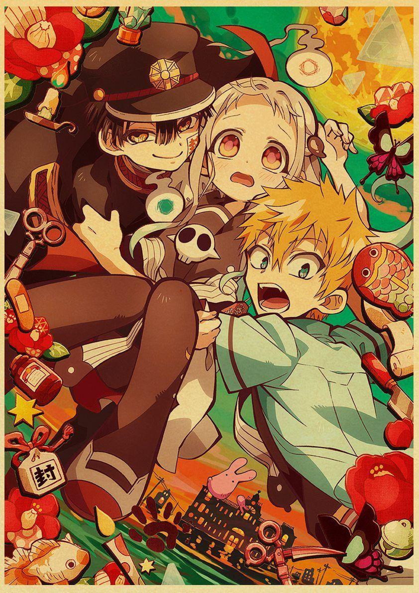 Back To College Jibaku Shounen Hanako-kun Anime Manga HD Print Retro Poster Wall Stickers For Living Room Home Art Decoration - 42X30cm / E186