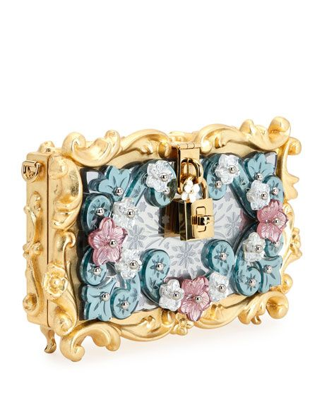6e0b42c22275 Mirrored Baroque Dolce Box Bag