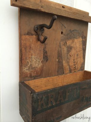 antique egg crate upcycled