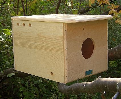 barn owl box. controls rodents through natural predation. | pests
