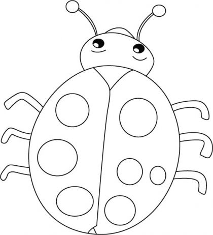 Ladybug smiles, stomach cries coloring pages | Download ...
