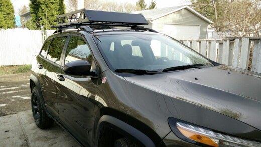 2015 Cherokee Trailhawk Roof Rack Basket Off Road Carrier Jeep Trailhawk Jeep Cherokee Trailhawk Jeep Cherokee