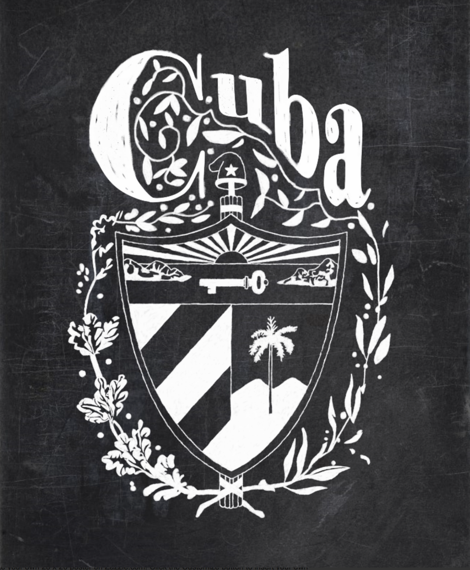 Zazzle poster design - Chalkboard Cuba Coat Of Arms Poster Http Www Zazzle Com