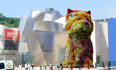 Perro De Flores Delante Del Guggenheim Bilbao España Guggenheim Museum Bilbao Guggenheim Museum Bilbao