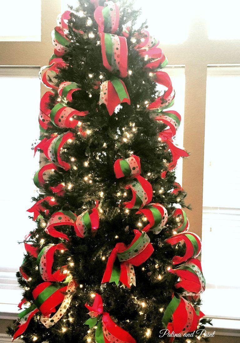 How I Put Ribbon on My Christmas Tree Outdoor christmas