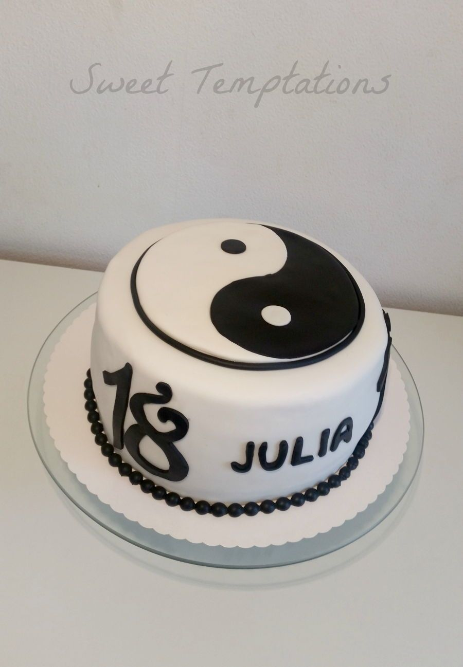 Yin And Yang Cake  on Cake Central