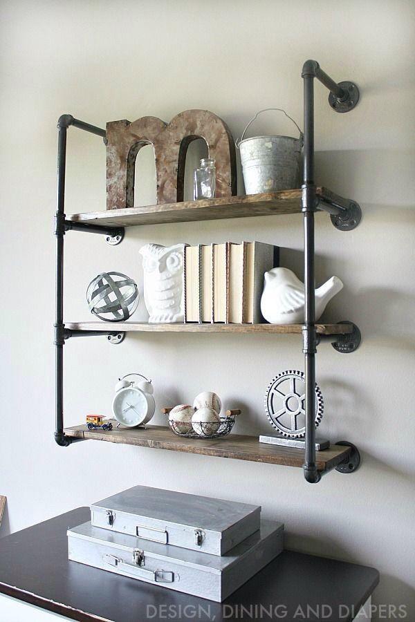 Industrial Pipe Reclaimed Wood Shelves Industrialdecor