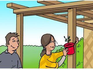 Comment fabriquer soi m me une pergola bois de jardin - Comment faire une pergola soi meme ...