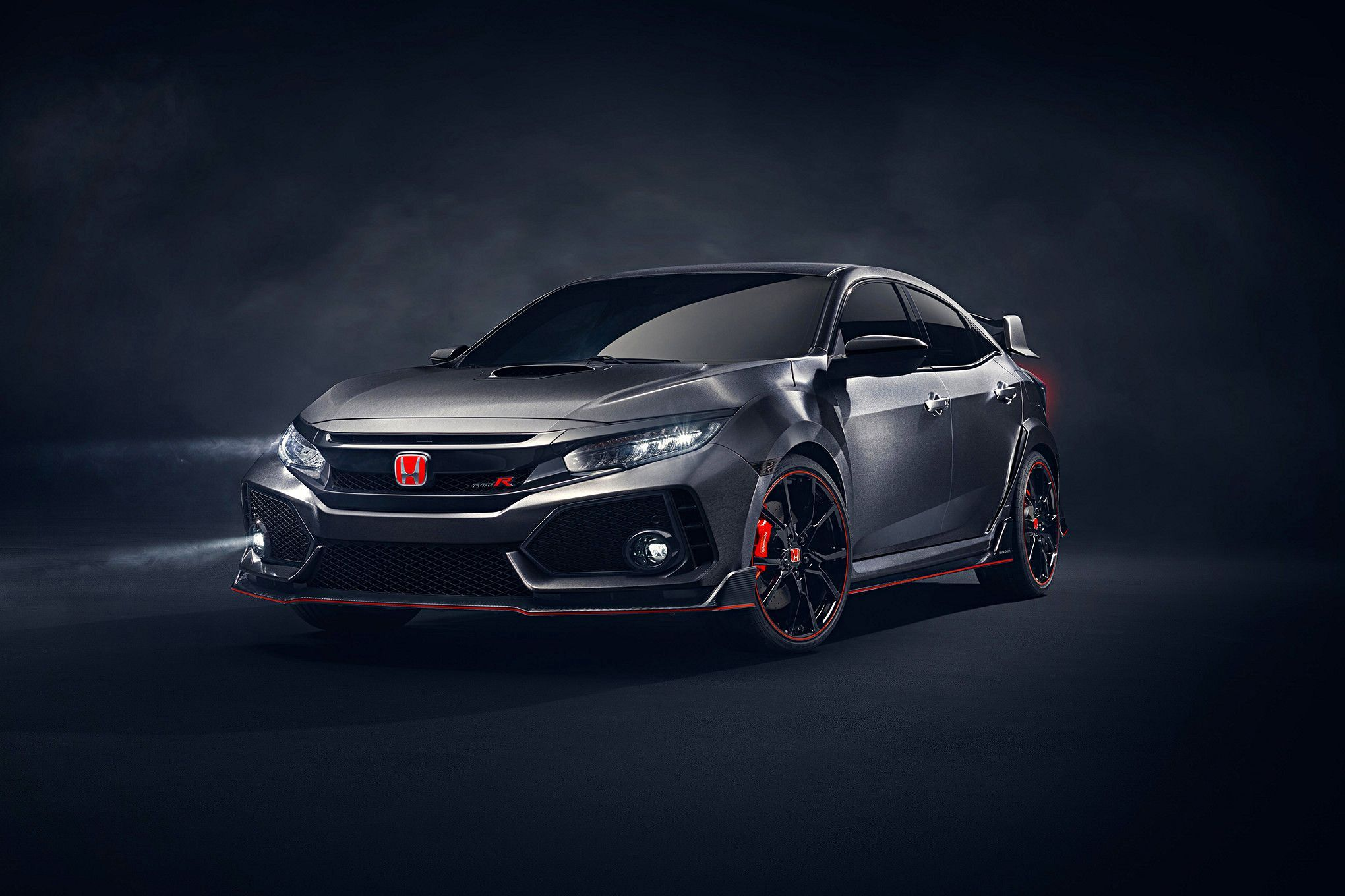 2018 honda civic type r front quarter type r uk. Black Bedroom Furniture Sets. Home Design Ideas