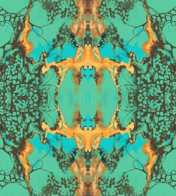 turquoise fabric/gift wrap