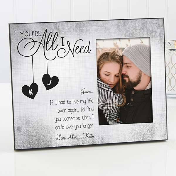 You\'re All I Need Personalized Picture Frame | Personalized picture ...