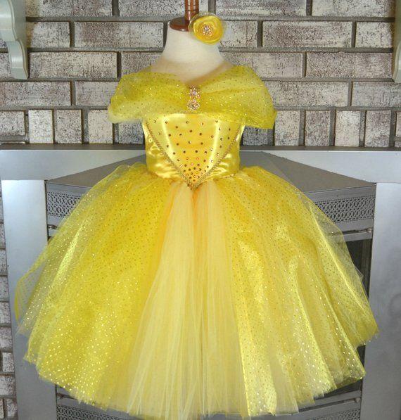 eaaeef9139f Yellow Princess Tutu Dress