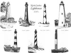 North Carolina Lighthouse Coloring Pages Sketch Template Nc