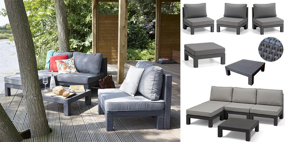 Salon de jardin modulable NEVADA Graphite | salon de jardin ...
