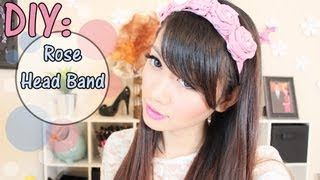 diy rose head band
