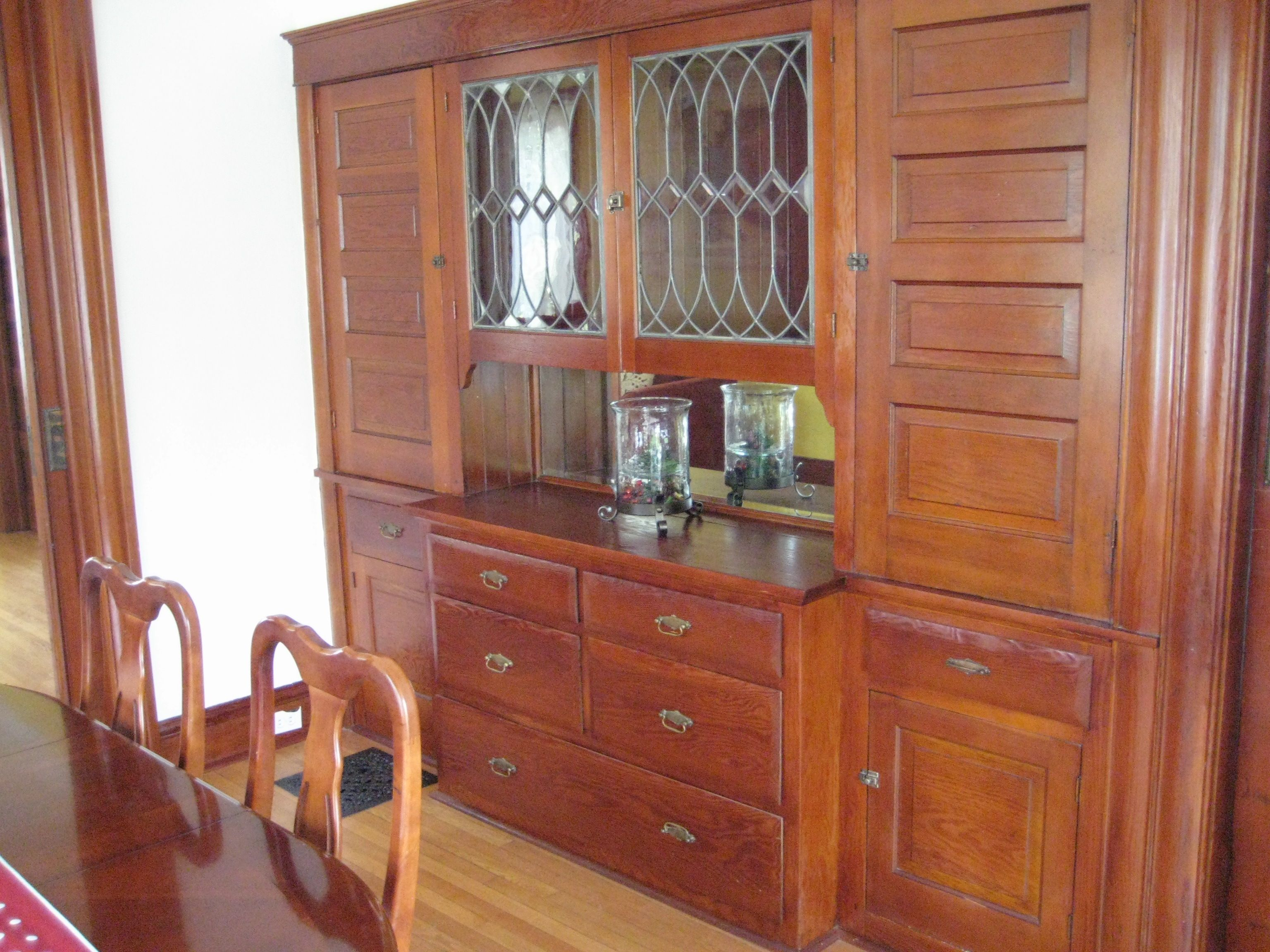 Dining Room Built In From 1906 House In Portland Or Nice Leaded Glass Craftsman Dining Room Bungalow Homes Dining Room Buffet
