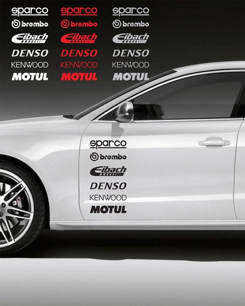 12pcs Racing Sponsors Logo Sport Sticker Emblem Decal For Any Car Bmw Subaru 2 Oracal Avtonaklejka Avtomobilnye Naklejki Avtomobili [ 1000 x 801 Pixel ]