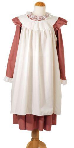 Edwardian//Victorian//WW1 Girls The Great War WHITE DRESS Fancy Dress Costume