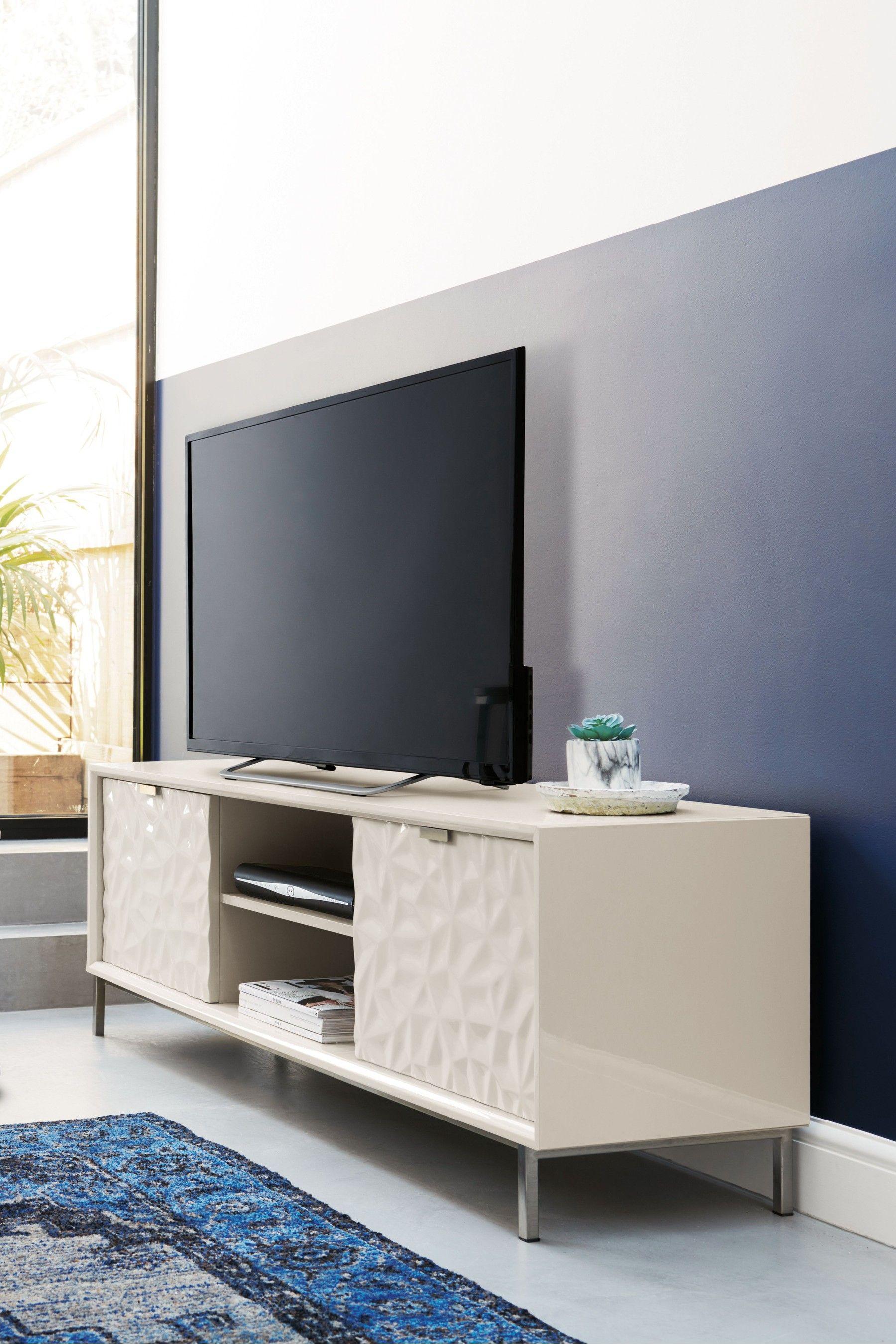 best service e0e61 ba863 Next Mode Grey Gloss TV Stand - Grey   Living Room in 2019 ...