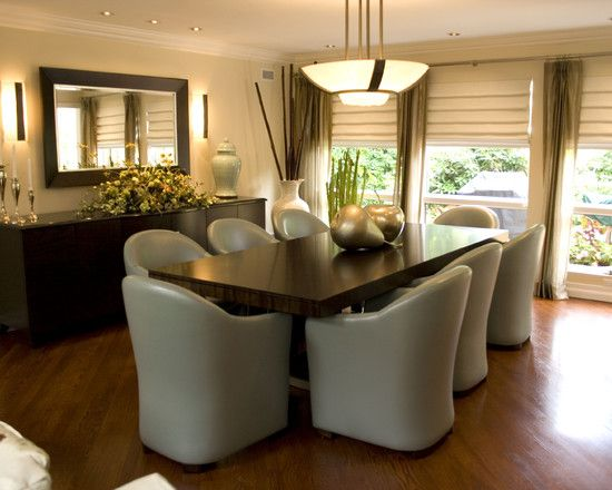 Spaces Roman Shades Design Pictures Remodel Decor And Ideas Page 24 Contemporary Dining Room Tables Modern Dining Room Minimalist Dining Room