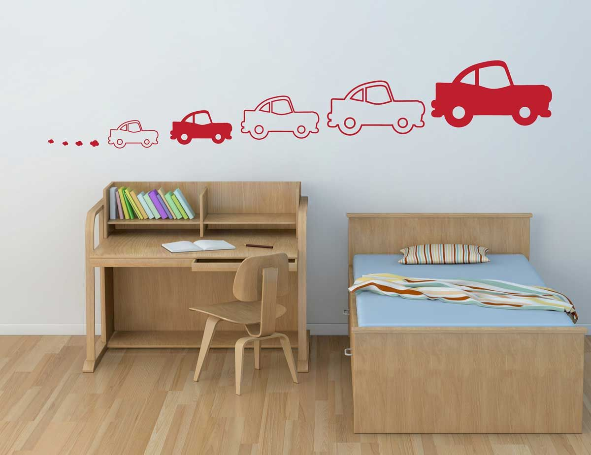 Childrens Bedroom Wall Designs Custom White And Red Car Bedroom Design For Kids Wall  Interior Bed Room Design Ideas