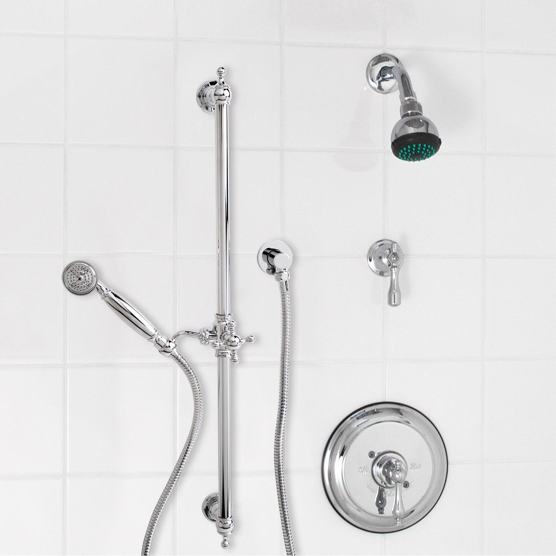pressure balance shower system wall shower u0026 luxury handshower lever handle nickel