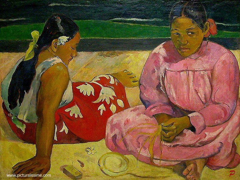 Paul Gauguin Tahitian Women on the Beach