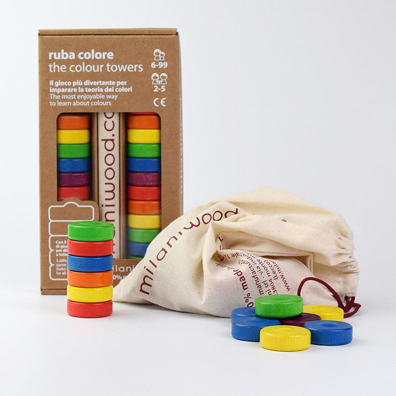 Learn secondary and complementary colours with  Milaniwood The Colours Towers