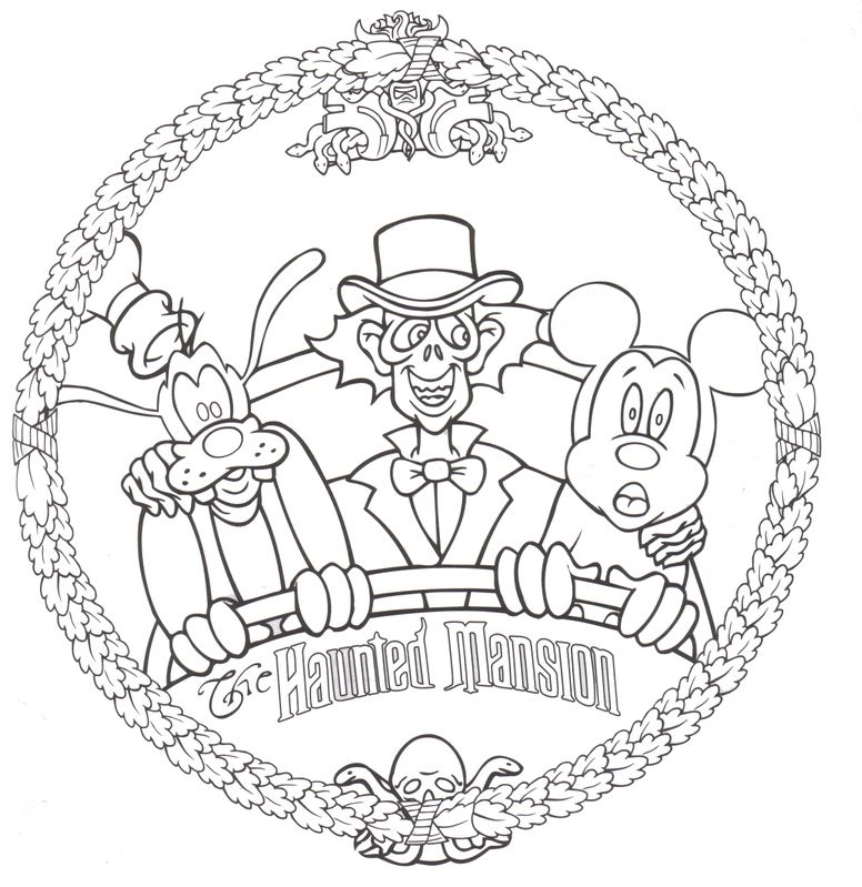 free disney halloween coloring pages haunted mansion gallery of
