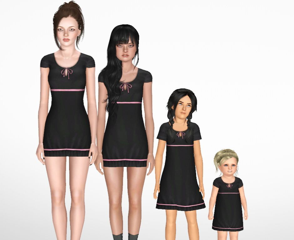 NyGirl Sims: Mommy and Me Cap Sleeve Summer Sundress Set for Toddler thru Adults