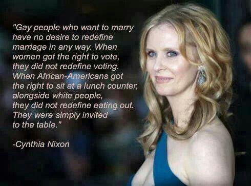 Cynthia Nixon on gay rights