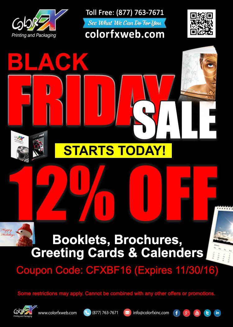 black friday sale save 12 off on booklets brochures greeting