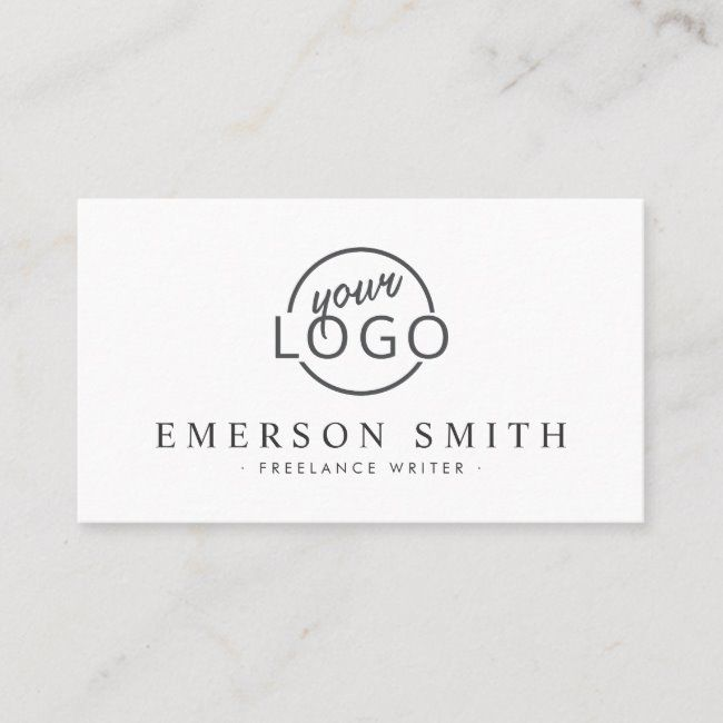 Interior Designbusiness: Custom Logo White Modern Minimalist Business Card