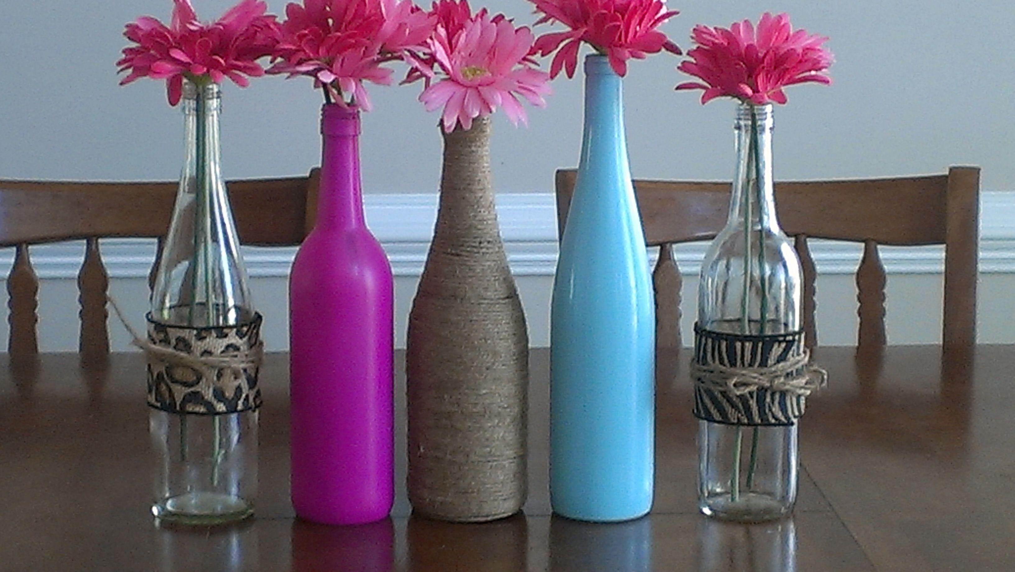 Wine Bottle Decor Diy Ideas Pinterest