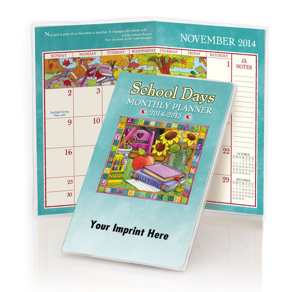 2013 2014 School Days Monthly Pocket Planner With Protective Vinyl Sleeve Teacher Appreciation Week Monthly Pocket Planner School Days