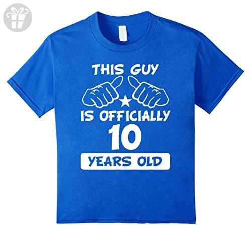 Kids This Guy Is Officially 10 Years Old Cool 10th Birthday Shirt 12 Royal Blue