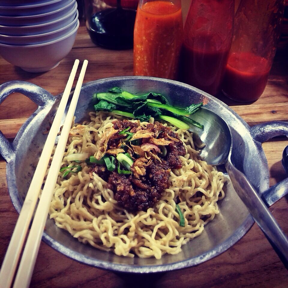 Bakmie Ngelawan Indonesian Noodle With Chicken And Sambal Roa Fish Special Taste And Spicy It S Delicious At Panglima Polim 9 Near Gado2 Boplo And Food