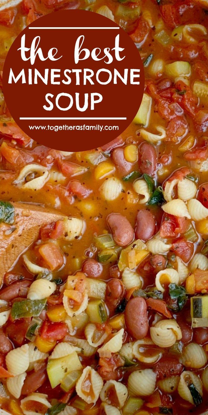 La mejor sopa de minestrone   Receta De Sopa   Receta Saludable   ¡Esta es honestamente la mejor sopa de minestrone! Una base de tomate con caldo de v... #christmasdinner #como #dinnergrill #dinnermenu #dinnerroom