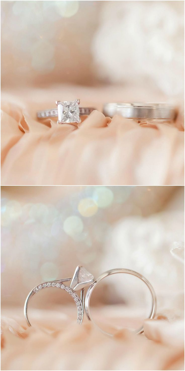 White gold engagement ring solitaire diamond princess cut
