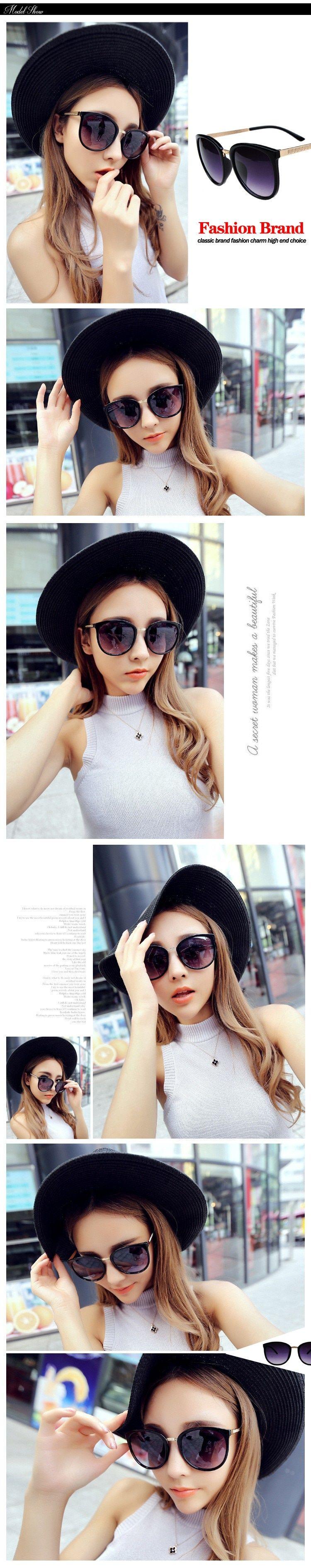 ca62aa02cda  15.72 - Awesome Round Fashion Glasses Oversized Sunglasses Women Brand  Designer Luxury Womens Eyeglasses Big Cheap