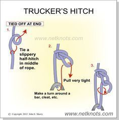 Truckers Hitch - How to tie a Trucker's Hitch #ropeknots