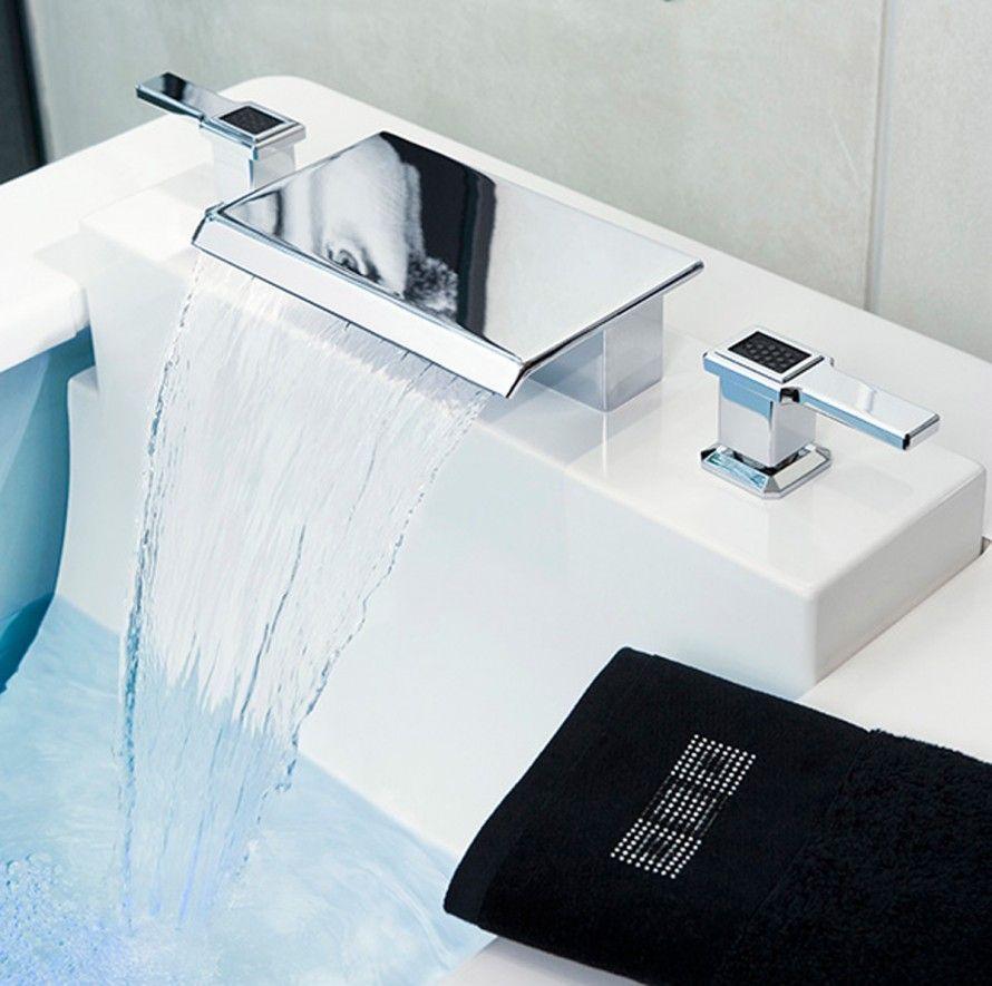 interesting waterfall faucet bathroom design image 84   Bathroom ...