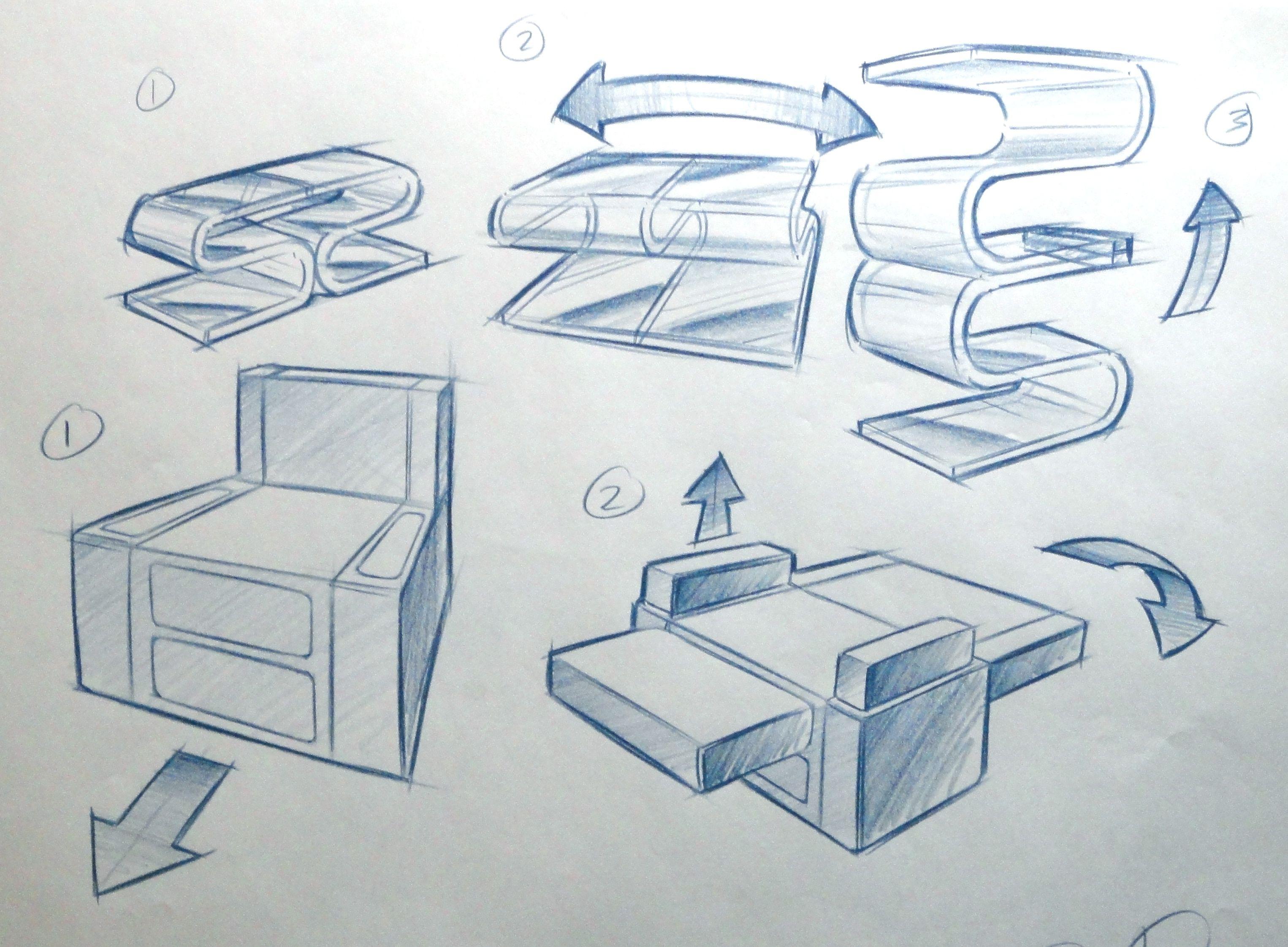 Transforming Furniture By Sean Peterson At Coroflot Com 스케치