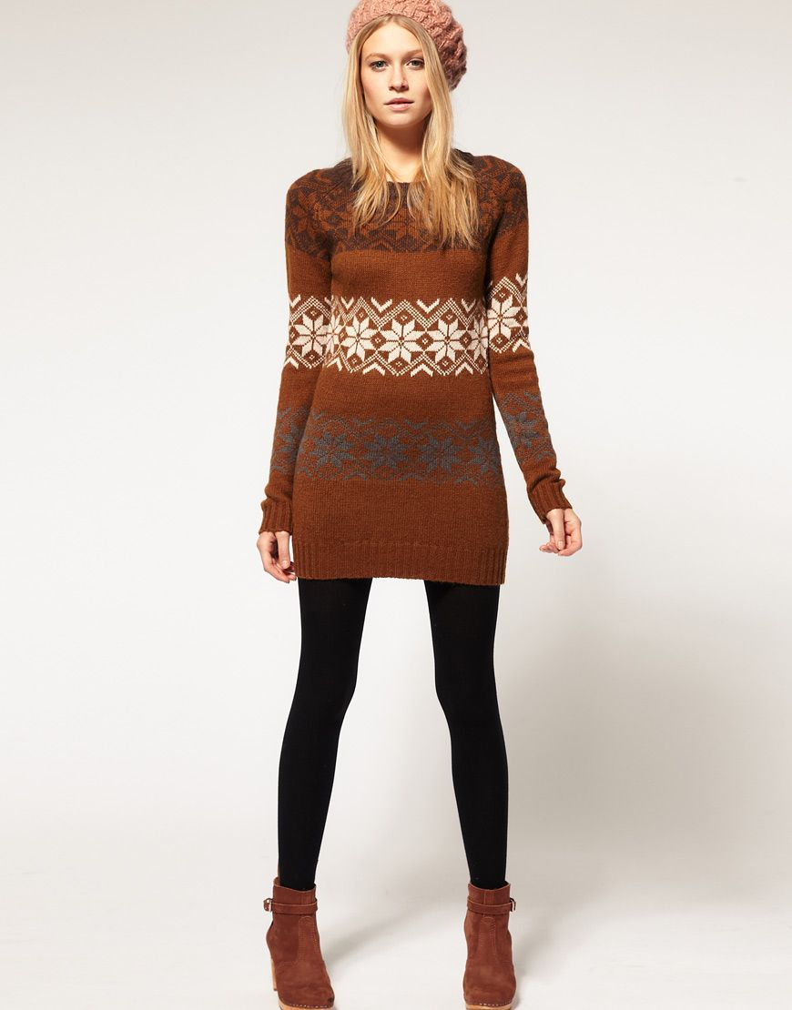 Fashion week Dresses Sweater with leggings pictures for woman