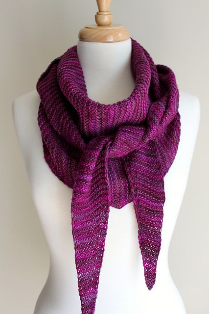 Totally Triangular Scarf by Michelle Krause. malabrigo Rastita in ...